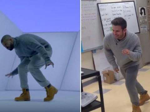 World's coolest maths teacher dresses as Drake and dances to Hotline Bling