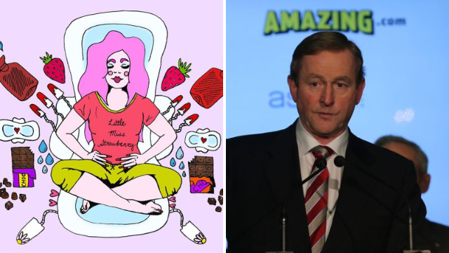 Women are live-tweeting their periods to the Irish Prime Minister to protest abortion laws