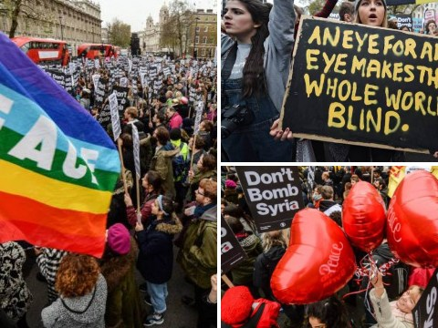 #DontBombSyria: Thousands rally near Downing Street to protest against military intervention
