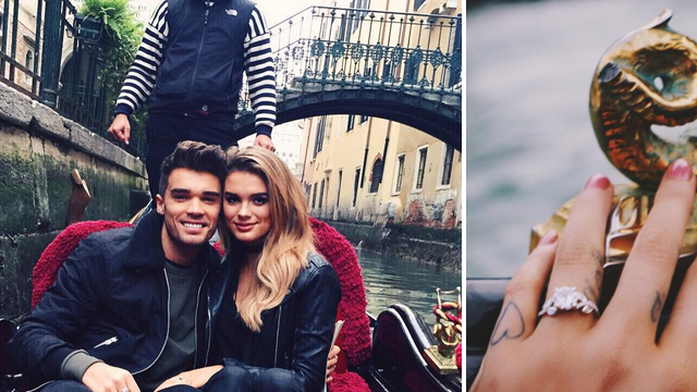 Union J's Josh Cuthbert is engaged! Singer proposes to girlfriend Chloe Lloyd in Venice