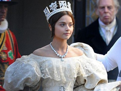 Jenna Coleman looks radiant as Queen Victoria – but won't her pal Prince Harry find this a bit odd?