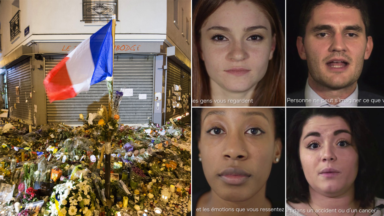 Children of 9/11 victims record a message of hope for Paris