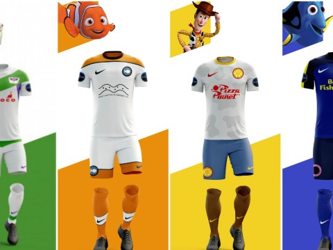 Graphic designer creates quality football kits for Pixar movie characters