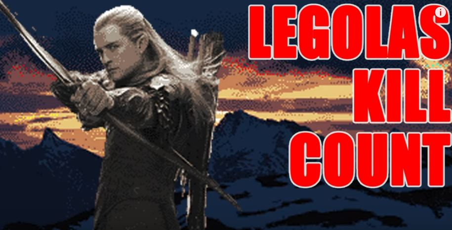 This is how many orcs and bad guys Legolas killed in The Hobbit and the Lord Of The Rings franchises