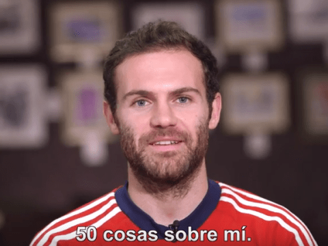 Manchester United star Juan Mata reveals 50 facts about himself