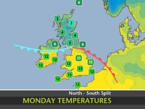 UK weather: It's pretty warm on Monday if you're below this line