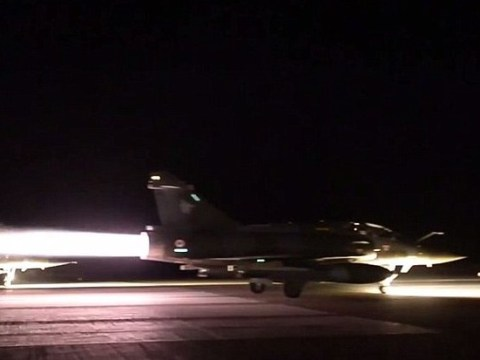 Paris attacks: French fighter jets drop 20 bombs on ISIS stronghold of Raqqa
