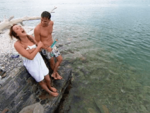 Geordie Shore season 11 episode 3: Charlotte Crosby and Gaz Beadle can't stop smiling as they enjoy 'amazing' beach date