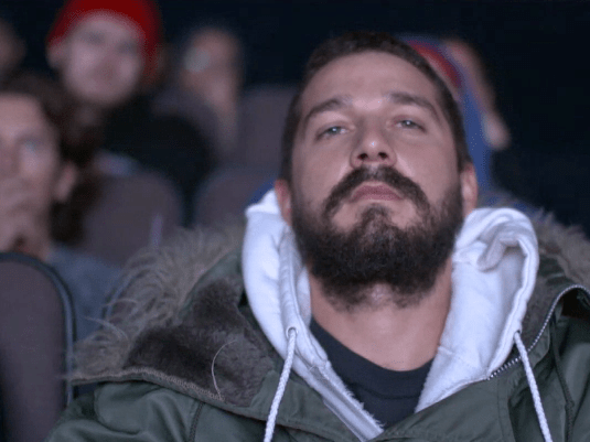 Shia LaBeouf is hilariously unmoved as he finishes 72-hour marathon of all his films