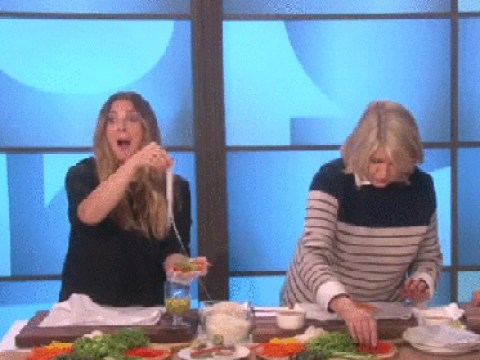 Poor old Drew Barrymore was totally ghosted by chef Martha Stewart on US TV