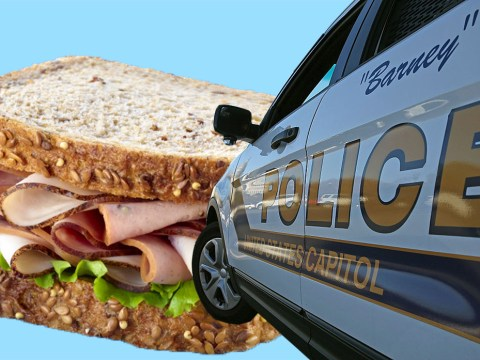 Man arrested after drive-by sandwich attack