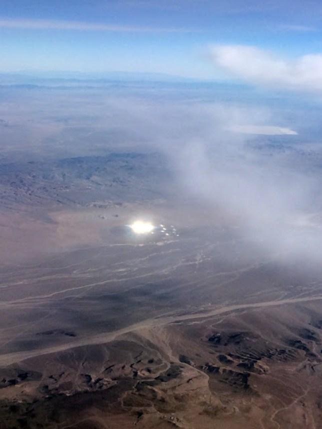 Spaceship - or solar farm? (picture MUFON)