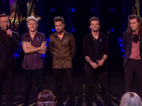 One Direction appear on The X Factor and everyone is wondering if Caroline Flack feels awkward