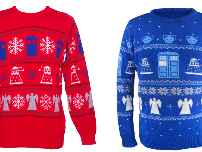 Doctor Who Christmas jumpers just took geek knitwear to a new level