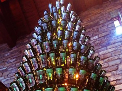 Wine lovers, you need to see this Christmas tree