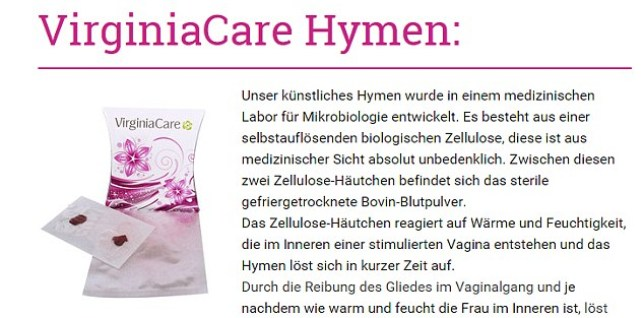 Company selling 'fake hymens' to Muslim women in Germany - which burst with fake blood to trick husbands into thinking they are virgins - sees sales surge as migrant influx spikes Source: Unknown