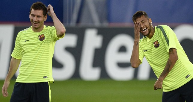 Lionel Messi and Neymar were said to be delighted with the draw (Picture:Getty)
