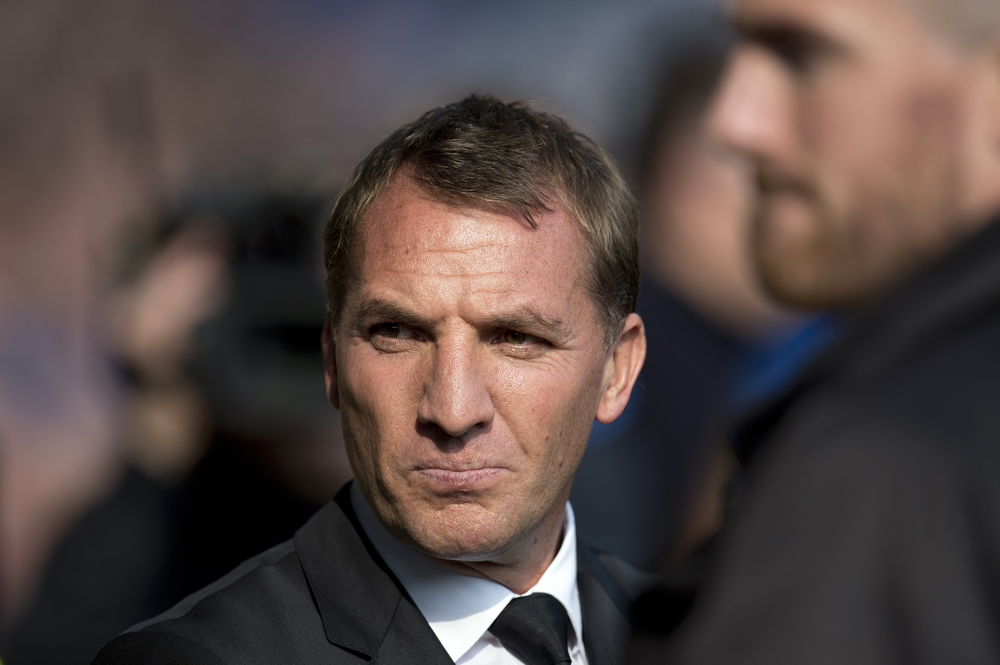 Liverpool's Northern Irish manager Brendan Rodgers ahead of the English Premier League football match between Everton and Liverpool at Goodison Park in Liverpool north west England on October 4, 2015. Rogers parted company with the club following the match against Everton. AFP PHOTO / OLI SCARFF RESTRICTED TO EDITORIAL USE. No use with unauthorized audio, video, data, fixture lists, club/league logos or 'live' services. Online in-match use limited to 75 images, no video emulation. No use in betting, games or single club/league/player publications. (Photo credit should read OLI SCARFF/AFP/Getty Images)