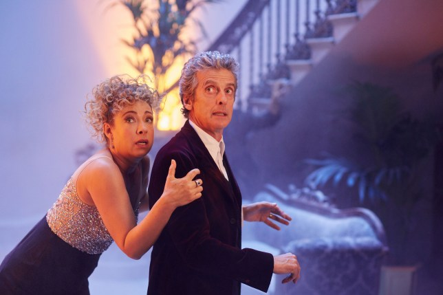 WARNING: Embargoed for publication until 00:00:01 on 24/11/2015 - Programme Name: Doctor Who - TX: n/a - Episode: n/a (No. n/a) - Picture Shows: River Song (ALEX KINGSTON), Doctor Who (PETER CAPALDI) - (C) BBC - Photographer: Simon Ridgway