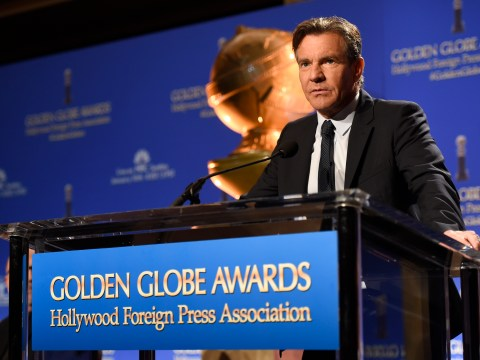 WATCH: Dennis Quaid try – and fail – to pronounce Saoirse Ronan's name at the Golden Globes nominations