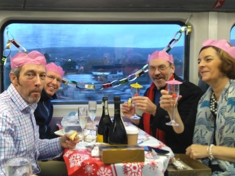 Commuters threw a lovely Christmas party on their 8.08am train to work