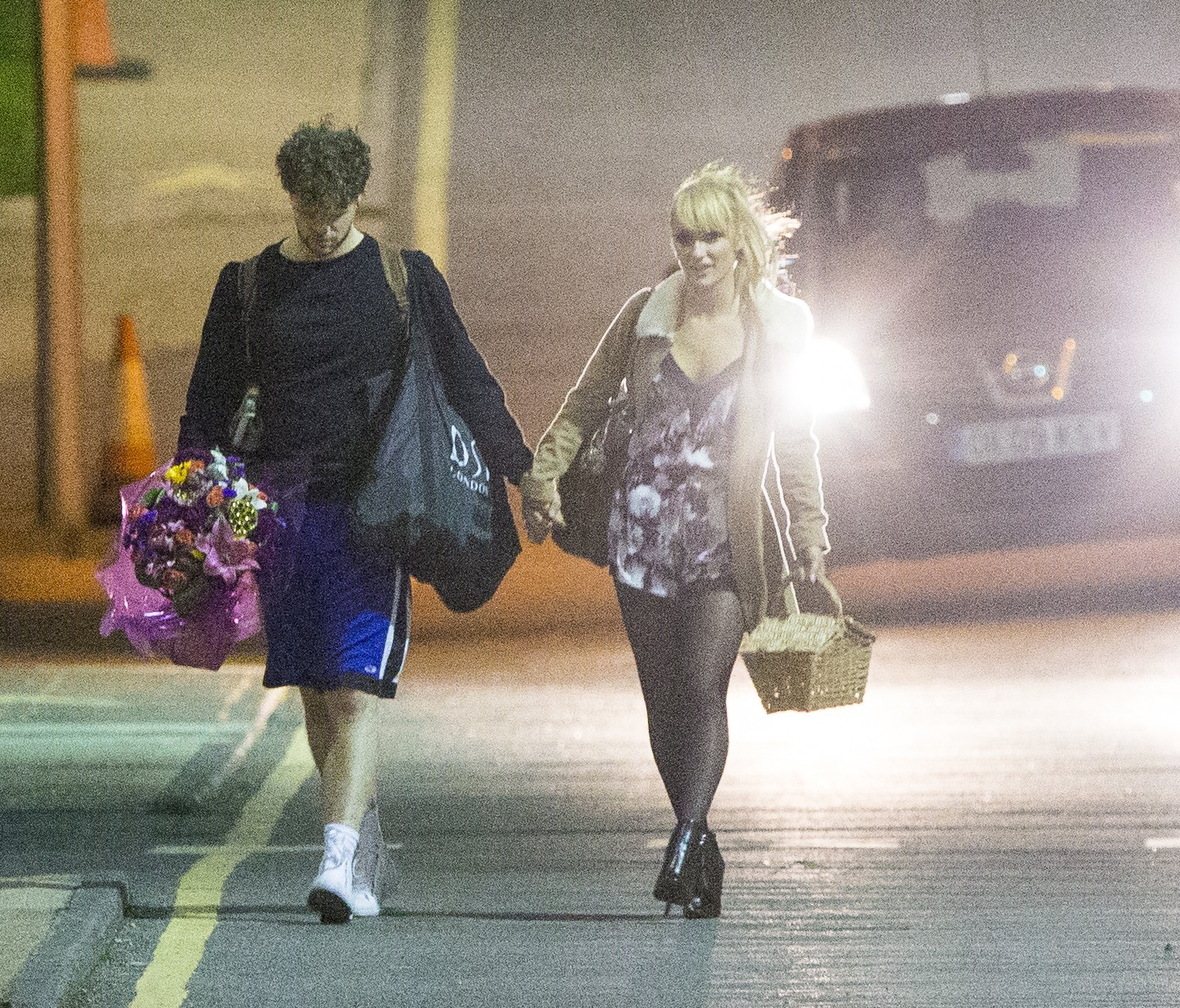 December 20, 2015 **exc - to be joined with iso images - ** Jay McGuiness and Aliona Vilani seen getting cosy at the 'Strictly Come Dancing' wrap party in Elstree, Hertfordshire. The pair were seen alone getting very close, neither knew if there was anybody watching and the road was empty as they embraced! Exclusive WORLDWIDE RIGHTS Pictures by : FameFlynet UK © 2015 Tel : +44 (0)20 3551 5049 Email : info@fameflynet.uk.com