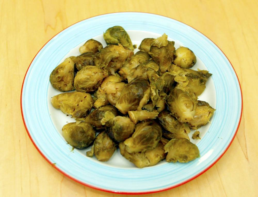 FILE PICTURE - Brussels sprouts on a plate. A primary school is trying to identify a child who keeps smuggling unwanted cooked Brussels sprouts in and planting them in other pupil's backpacks. See MASONS story MNSPROUTS. In one of the more unusual whodunnits of the year, teachers at Monkfield Park Primary School in Great Cambourne, Cambridgeshire, are trying to work out who the sprout smuggling culprit is. Members of staff told the entire school during an assembly that the guilty party needs to stop bringing in the contraband vegetable as it could trigger 'an allergic reaction' in another pupil.
