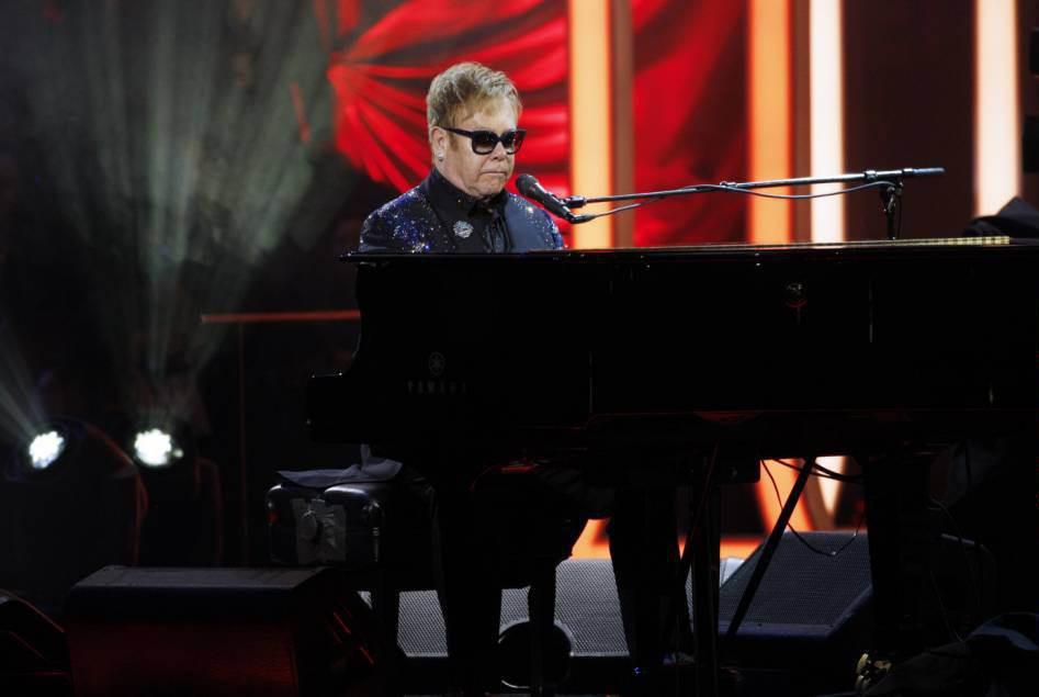 Editorial Use Only. No Merchandising Mandatory Credit: Photo by REX Shutterstock (5370660fu) Sir Elton John Royal Variety Performance, Royal Albert Hall, London, Britain - 13 Nov 2015