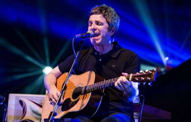 Noel Gallagher's High Flying Birds. Noel Gallagher performs an acoustic set as an opening performance prior to his main electric performance.. Noel Gallagher's High Flying Birds in Concert, Royal Albert Hall, London, Britain - 10 Dec 2015.. ..