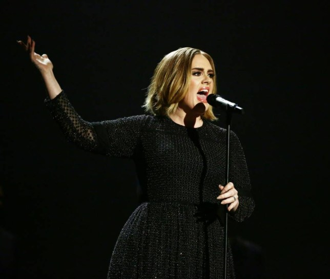 *** MANDATORY BYLINE TO READ: Syco / Thames / Corbis ***<BR /> The X Factor Series Finals, London, United Kingdom - 13 December 2015 <P> Pictured: Adele <B>Ref: SPL1195677 131215 </B><BR /> Picture by: Syco/Thames/Corbis/Dymond<BR /> </P><P>
