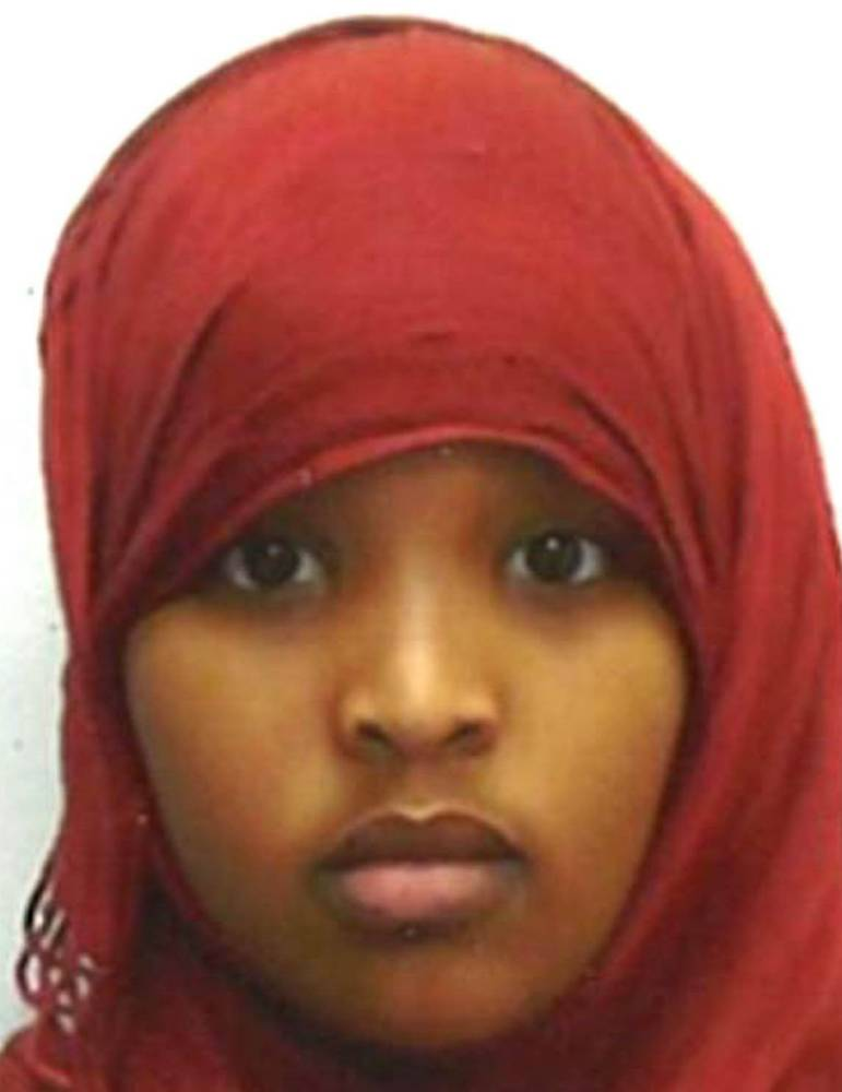 Undated handout photo issued by Metropolitan Police of Fardowsa Hassan who is one of three schoolgirls who have gone missing from their homes in London. PRESS ASSOCIATION Photo. Issue date: Wednesday December 16, 2015. Abir Salah, 16, and Ahlam, 15, who are sisters, and 13 year-old Fardowsa Hassan, from Wood Green, have not been seen for several days. See PA story MISSING Schoolgirls. Photo credit should read: Metropolitan/PA Wire NOTE TO EDITORS: This handout photo may only be used in for editorial reporting purposes for the contemporaneous illustration of events, things or the people in the image or facts mentioned in the caption. Reuse of the picture may require further permission from the copyright holder.