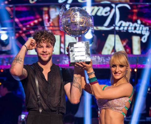 For use in UK, Ireland or Benelux countries only BBC handout photo of Aliona Vilani and Jay McGuiness who are the winners of Strictly Come Dancing 2015. PRESS ASSOCIATION Photo. Picture date: Saturday December 19, 2015. See PA story SHOWBIZ Strictly. Photo credit should read: Guy Levy/BBC/PA Wire NOTE TO EDITORS: Not for use more than 21 days after issue. You may use this picture without charge only for the purpose of publicising or reporting on current BBC programming, personnel or other BBC output or activity within 21 days of issue. Any use after that time MUST be cleared through BBC Picture Publicity. Please credit the image to the BBC and any named photographer or independent programme maker, as described in the caption.
