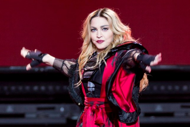 Madonna performs at the Hydro Arena in Glasgow, Scotland ending the UK/Europe leg of her Rebel Heart Tour. <P> Pictured: Madonna <B>Ref: SPL1199413 201215 </B><BR /> Picture by: DMC / Splash News<BR /> </P><P> <B>Splash News and Pictures</B><BR /> Los Angeles: 310-821-2666<BR /> New York: 212-619-2666<BR /> London: 870-934-2666<BR /> photodesk@splashnews.com<BR /> </P>