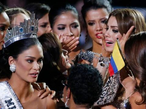 Oops… Steve Harvey accidentally crowns wrong winner of Miss Universe