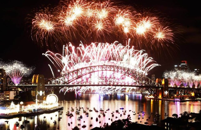 SYDNEY, AUSTRALIA - JANUARY 01: Fireworks explode on New Year's Eve on Sydney Harbour on January 1, 2016 in Sydney, Australia. (Photo by Brendon ThorneCity of Sydney/Getty Images)