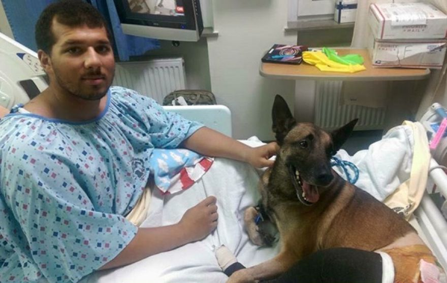 Specialist Andrew Brown and Rocky (Picture: 89th Military Police Brigade)