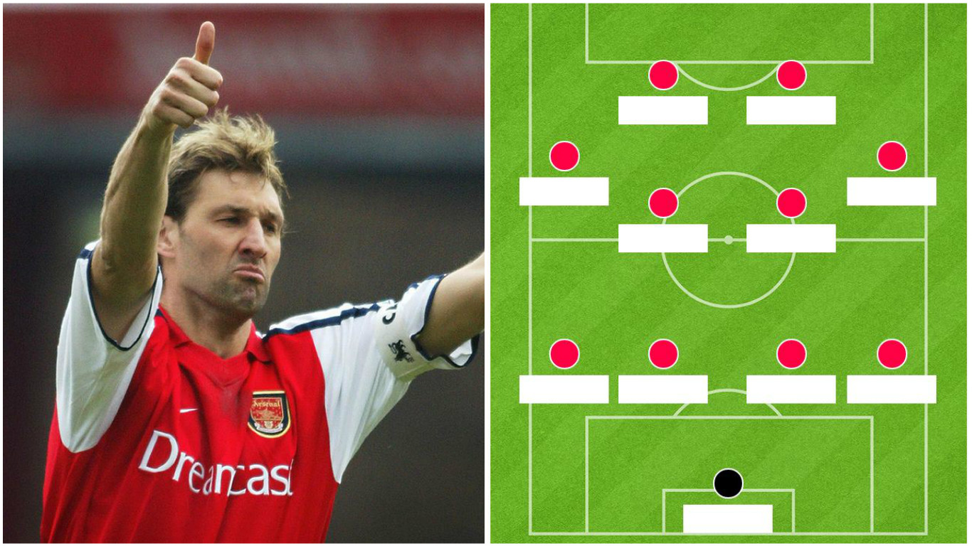 Arsenal legend Tony Adams names team-mates XI, includes only one non-Gunner