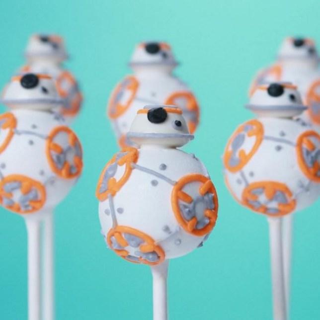 BB-8 cake pops