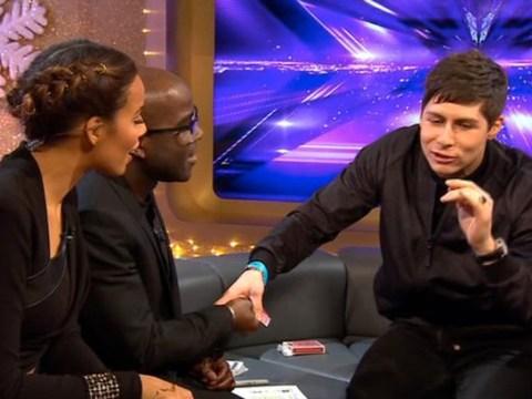 Magician Ben Hanlin's 'Cheryl Cole diet' joke on The Xtra Factor didn't go down well