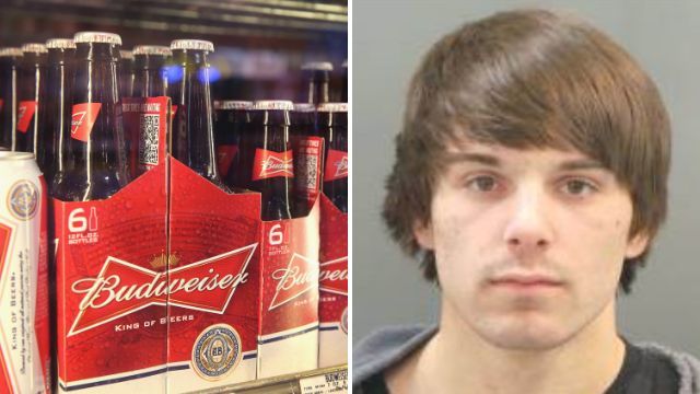 Oh, that Bud Weisser? He's just been arrested for trespassing at Budweiser brewery