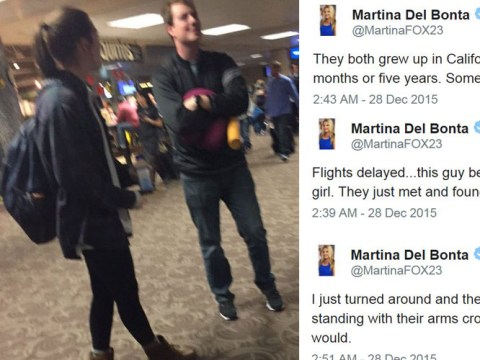 Fox News reporter live-tweets budding romance at the airport