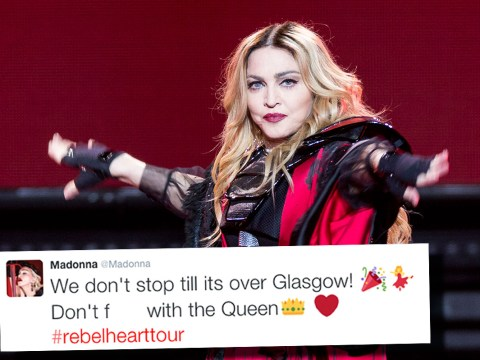 WATCH: Madonna performed an acapella version of Holiday in Glasgow after the power went off…