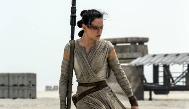 "This photo provided by Disney/Lucasfilm shows Daisy Ridley as Rey in a scene from the film, ""Star Wars: The Force Awakens,"" directed by J.J. Abrams. The movie opens in U.S. theaters on Dec. 18, 2015. (David James/Disney/Lucasfilm via AP)"