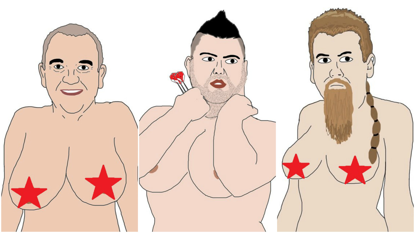 'I think deep down we've all been wondering why': Darts Boobs explains the latest creation