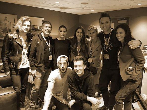 Dougie Poynter crashes at Blink 182's Mark Hoppus' place in wake of 'split' from Ellie Goulding