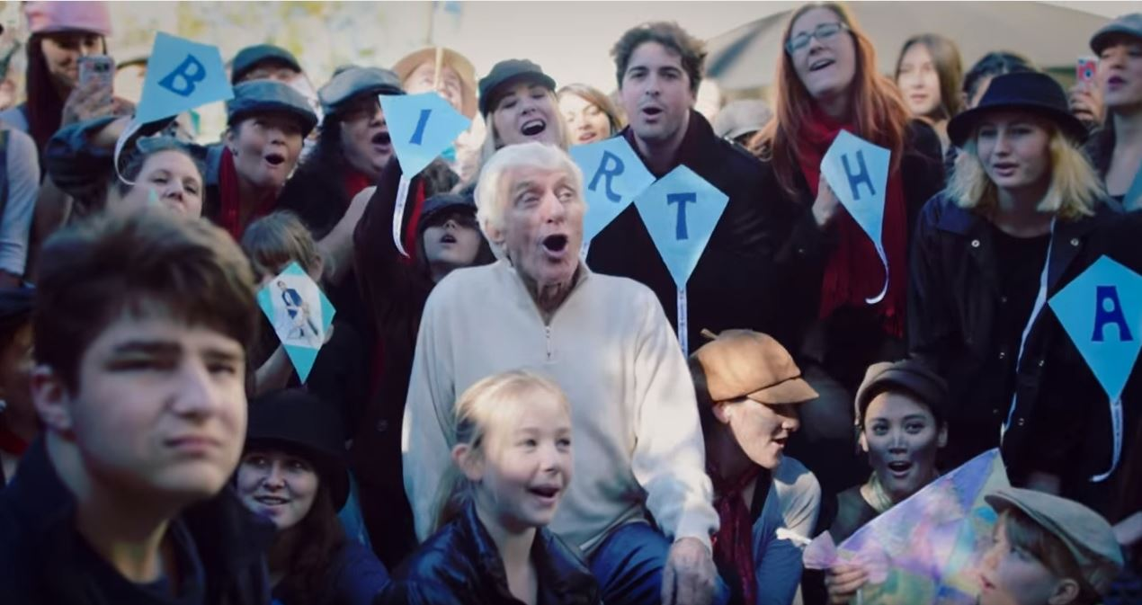 Mary Poppins flash mob dancers step in time for legend Dick Van Dyke's 90th birthday