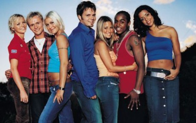 Publicity picture of pop group 'S CLUB 7' ahead of their new alb