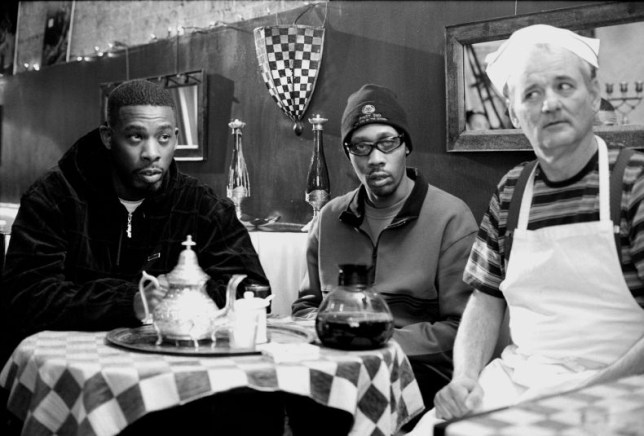 FILM ' Coffee & Cigarettes ' (2004) Wu Tang Clan's GZA and RZA with Bill Murray in a film by Jim Jarmusch