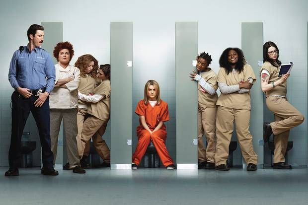Television programme: Orange Is the New Black, pictured - cast.