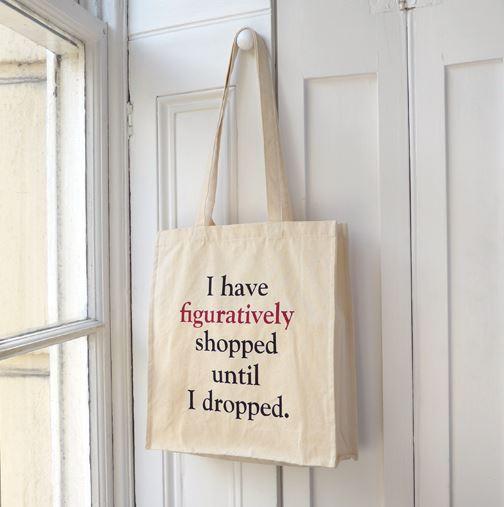Funny Grammar Canvas Tote Bag Grammar Police